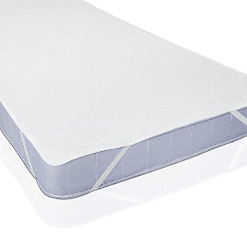 Lumaland Wasserundurchlässige Matratzenauflage - 60 x 120 cm - für Kinderbett - Matratzenschoner Matratzenschutz Matratzenbezug Bettlaken - Anti-allergisch, gegen Milben - Weiß