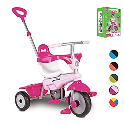 smarTrike Breeze Toddler Tricycle for 1,2,3 Year Olds - 3 in 1 Multi-Stage Trike, Pink by smarTrike