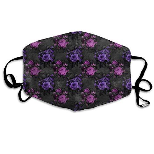 Pink & Purple Gothic Roses Gesichtsschutz Mundschutz