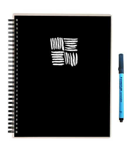"""Scrubby Reusable Whiteboard Notebook -- Large Size (8"""" x 10"""") -- Hatch Cover"""