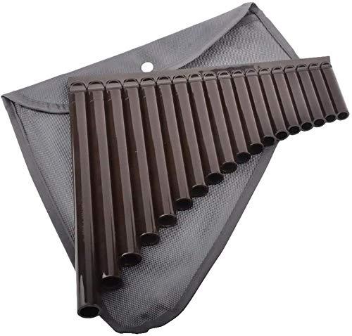 YAYY 18 Pfeifen Panflöte Alt C 18 Röhren ABS Harz Panflöte für Anfänger Kinder Musikinstrument Upgrade