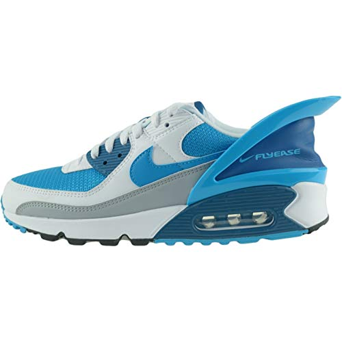 Nike Air Max 90 Flyease, Zapatillas Para Correr Hombre, White White Industrial Blue Laser Blue, 43...