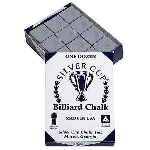 Bankers Billardkreide, Grau, 12 Stück