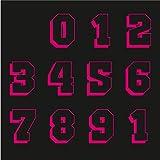 Sticker Mimo Adhesivos con números de moto grandes de patrocinadores, motocross, casco, calcomanías para coche Vespa Scooter (Fosforescente rosa)