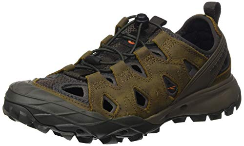 Merrell Choprock Leather Shandal, Zapatillas Impermeables para Mujer, Marrón (Brindle), 40.5 EU