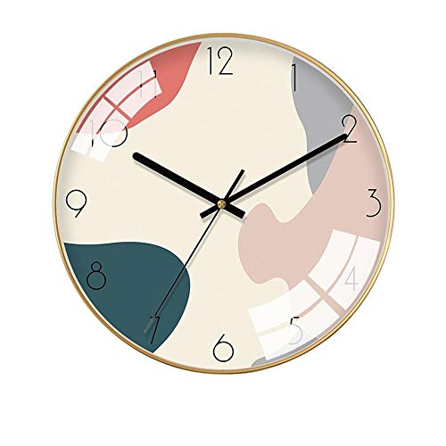 HY Simple Nórdica Figuras Geométricas De Color Oro Marco Electrónico del Cuarzo Mudo Decorativo Reloj De Pared del Reloj De Pared De Cristal De Metal Reloj Material De 35cm * 35cm * 4.5cm