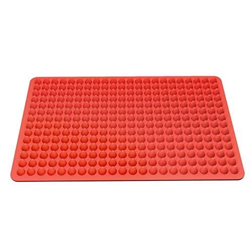 SENDR.KR Backmatte Silikon,1.2cm Backmatte Hundekekse,mehrzweck Silikonmatte für Backofen, Hitzebeständig & Lebensmittelecht (rot)