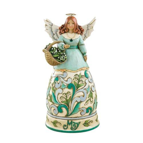 "Jim Shore Heartwood Creek May Angel Stone Resin Figurine, 6.25"""