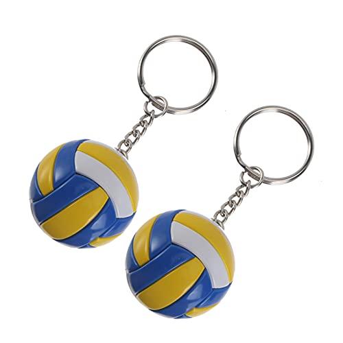 GARNECK 2 Llaveros de Bolas Deportivas de Voleibol Llaveros de Bolas Deportivas para Fiestas Favores de La Escuela Carnaval Bolsa de Regalo para Fiestas