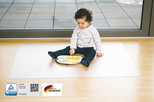 KAISER PLASTIC Bodenschutzmatte transparent | aus Clear Style R.PET | TÜV-Zertifiziert | perfekt für Hartboden | 100 x 120 cm