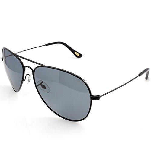 DUCO Occhiali pilota polarizzati Protezione unisex 100% UV 400 3025 (Nero/grigio)