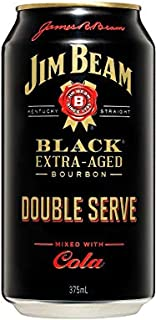 Jim Beam Black & Cola Double Serve 375mL Can 375mL Case of 24