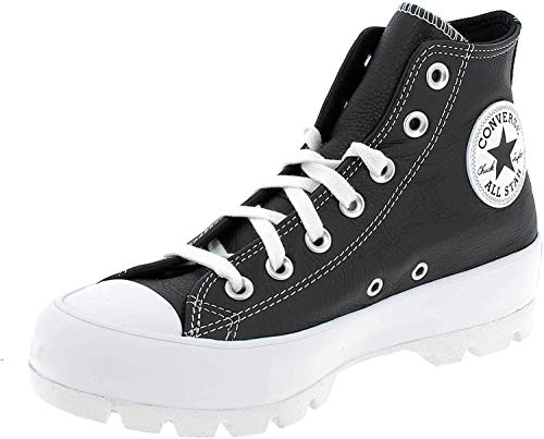 Converse Chuck Taylor All Star, Zapatillas Mujer, Negro Blanco, 37 EU