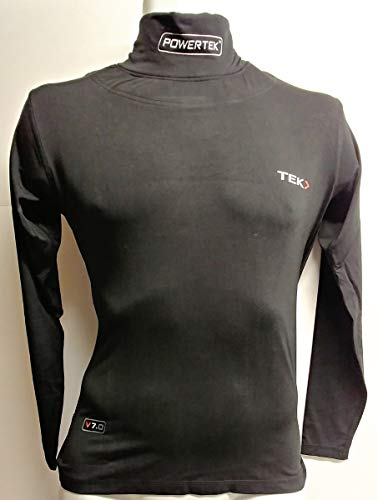 PowerTek v7.0 Hockey Long Sleeve Compression Shirt w/Neck Guard, BNQ...