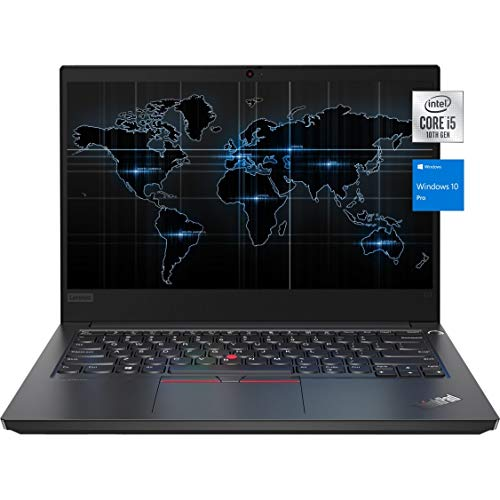 "2021 Newest Lenovo Thinkpad E14 Business Laptop, 14"" FHD IPS Display, Intel Core i5-10210U, 16GB RAM, 1TB Hard Disk Drive, Webcam, HDMI, Windows 10 Pro, KKE Mousepad, Black"