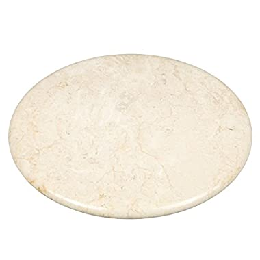 Creative Home Natural Stone Champagne Marble 12  Round Board, Cheese Platter, Serving Tray