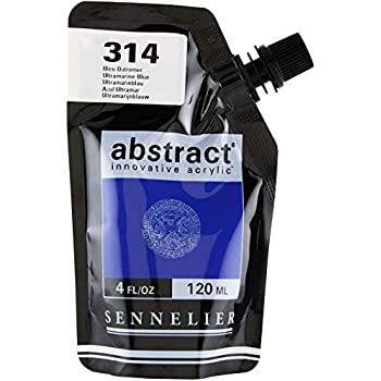 Sennelier Abstract Innovative Acrylic Artist Paint Pouch 120ml (314 Ultramarine Blue)