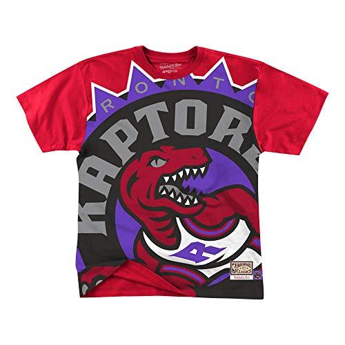 Mitchell & Ness NBA Big Face Toronto Raptors - Camiseta, color rojo, Hombre, rojo, xx-large