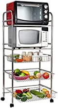 Home Living Museum / 304 Stainless Steel Kitchen Rack Floor Multi Layer Removable Household Storage Basket Put Fruit and V...