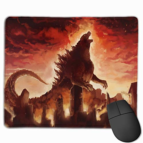 Popular Anime Monsters Movie Godzilla Non-Slip Mouse Pad 9.8 X 11.8 in' Durable Comfortable Mouse Mat Keyboard Pad Rubber Base with Stitched Edge Desk Pad for Home Computer Work Consoles Learning