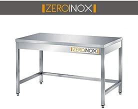 100x60x85h con Gocciolatoio a Sinistra ZeroInox Lavatoio Acciaio Inox profondit/à 60cm 1 Vasca 50x40