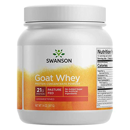 Swanson Goat Whey Protein Concentrate 14 Ounce (397 g) Pwdr