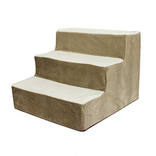 heresell Escalera para perros y gatos, con funda extraíble, 3 capas, de algodón de alta densidad, para sofá o cama, 38 x 30 x 40 cm