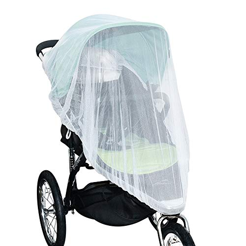 Jolik(2 Pack) Mosquito Net for Stroller Carriers Car Seats Cradles, Universal Size, High-Density Stroller Mosquito Net…