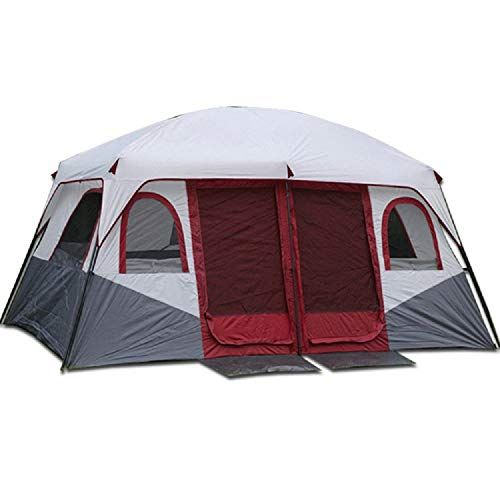 Spacious, UV ProtectionZelt, 8-12 Personen Outdoor Family Zelt Wasserproof Portable Regenschutz Warm Breathable Camping Wanderort,A,430 * 305 * 205CM