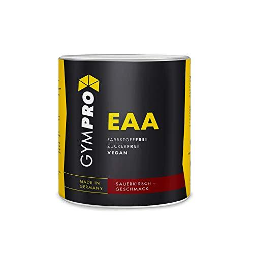 GymPro - EAA Pulver (500g) Essentielle Aminosäuren hochdosiert, vegan - Made in Germany (Sauerkirsch)