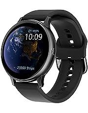 """Smart Watch Dames Fitness Tracker met bloeddruk Hartslag Slaapmonitor, 1,3""""volledig touchscreen Activity Trackers IP67 waterdicht voor IOS Android (Color : Black)"""