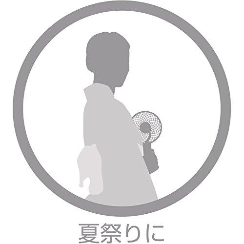 リズム時計工業『モバイルうちわ(9ZF011RH03)』