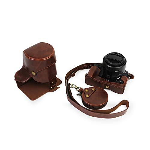 Kinokoo Étui en Cuir PU pour Fuji X-T2 X-T3 et Objectif 18-135mm & 10-24mm Sac de Protection avec Un Sac de Rangement et Une Sangle