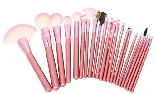GDRAVEN Maquillage Pinceau Ensemble, Fondation Pinceau Mélange Farine Blush Correcteur Ombre À Paupières Maquillage Pinceau Ensemble 22PCS Rose