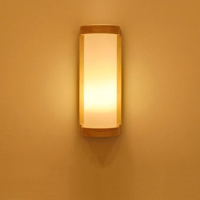 Unbekannt CHENGYI Wandlampe, Japanisch-Stil Schlafzimmer Nachttischlampe Treppenhaus Balkon Küche Flur Massivholz Wandleuchte E27