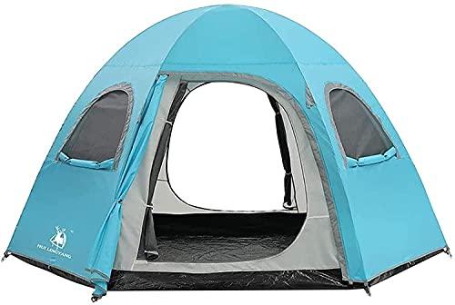 WDZJM Tienda, Portátil Al Aire Libre Portátil Playa Doble Decker Camping Tienda de Ocio Cabina instantánea (Color : Blue, Size : Free Size)