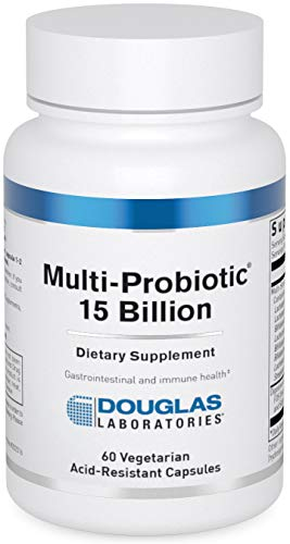 Douglas Laboratories - Multi-Probiotic 15 Billion - Multi-Strain Probiotic with Prebiotic FOS - 60 Vegetarian Acid-Resistant Capsules