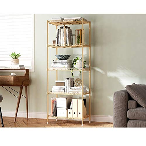 RYUXUI 5-Tiers Industriële Opslag Organizer Eenheid Opslag Organizer Rack Boekenkast Metalen Display Plank Badkamer Plank Organiseren Kast Plank