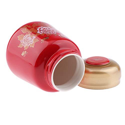 Homyl 400ml Pots de voyage pour Lotions, Crèmes et Maquillage Contenant de Stockage Miel Thé avec Couvercle Etanche - Rouge