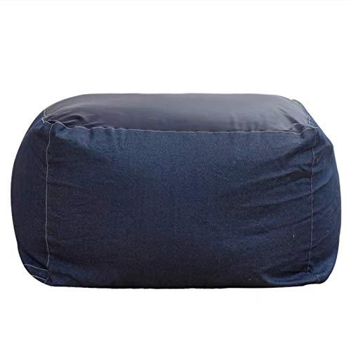 WSCQ Set Divano Pigro del Fumetto,Fodere da Divano in Lino Copri Bean Bag Pouf Sedia da Gaming Bean Bag Reclinabile Pouf Cover Senza Riempire,Denim Blue,65 * 65 * 43cm