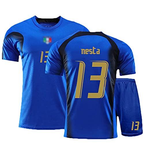 Camiseta Futbol Jersey de fútbol # 13 Alessandro Nesta Hombre Sudadera Transpirable T-Shirt Regalos para Amigos y Familiares (Color : A, Size : Adult X-Large)