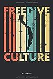 Freedive Culture Notizbuch: Geschenkidee für Apnoetaucher, kariert, 120 Seiten