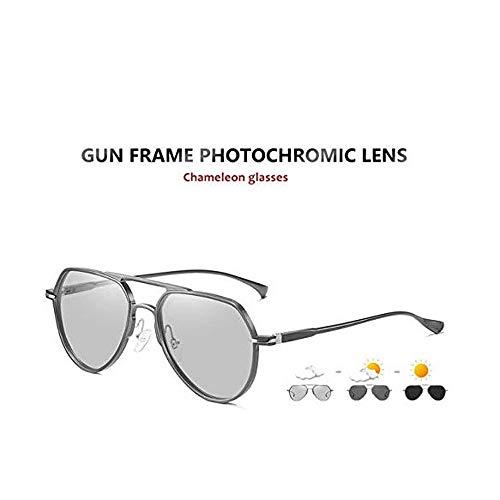 JNWEIYU Die Neue Nachtfahrbrillen, polarisierte Sonnenbrille Flieger-Sonnenbrille for Männer - FEIDU polarisierte Flieger-Sonnenbrillen for Herren Sonnenbrillen Mann (Color : B)