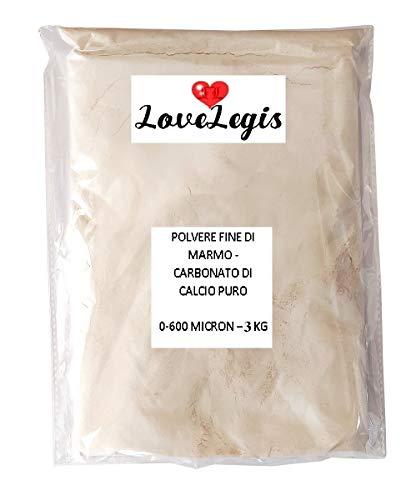 Polvere fine di marmo di botticino - carbonato di calcio puro - Bianco di meudon - 0-600 Micron - Polvere di Marmo Caco3...