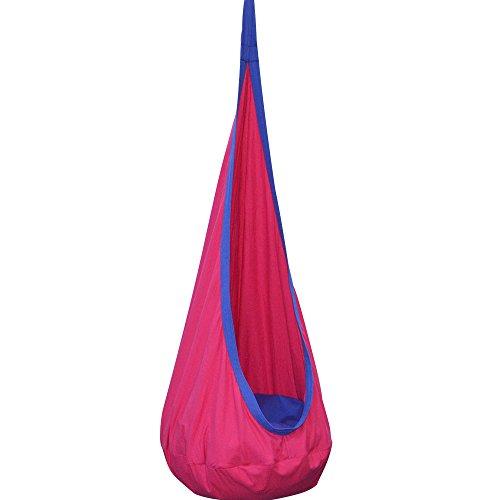 happypie Children Pod Swing Chair Folding Hanging Hammock Seat Indoor and Outdoor - Magenta