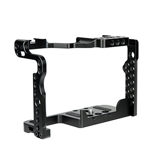 NICEYRIG Cage for Panasonic Lumix G9 GH5 GH5s Mirrorless Camera, with Threaded Hole NATO Rail and Cold Shoe - 349