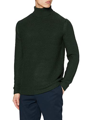 ONLY&Sons ONSLOCCER 3 STRUC High Neck Knit Maglione, Scarab, XXL Uomo