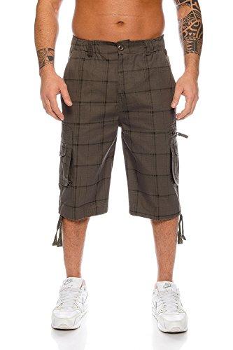 Kendindza Hombres Pantalones Cortos Bermuda Cargo Leisure Shorts M - 4XL