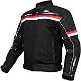 XTS Gear Men's and Women's Airhead Riding Jacket (Black Red , Extra Large)
