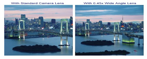 New 0.43x High Definition Wide Angle Conversion Lens (43mm) for Canon VIXIA HF R600